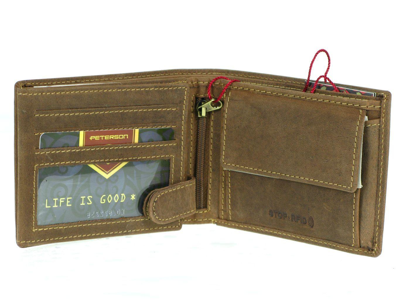 fd5bfa44018a5 ... portfel męski Peterson RW304-nubuk RFID ...
