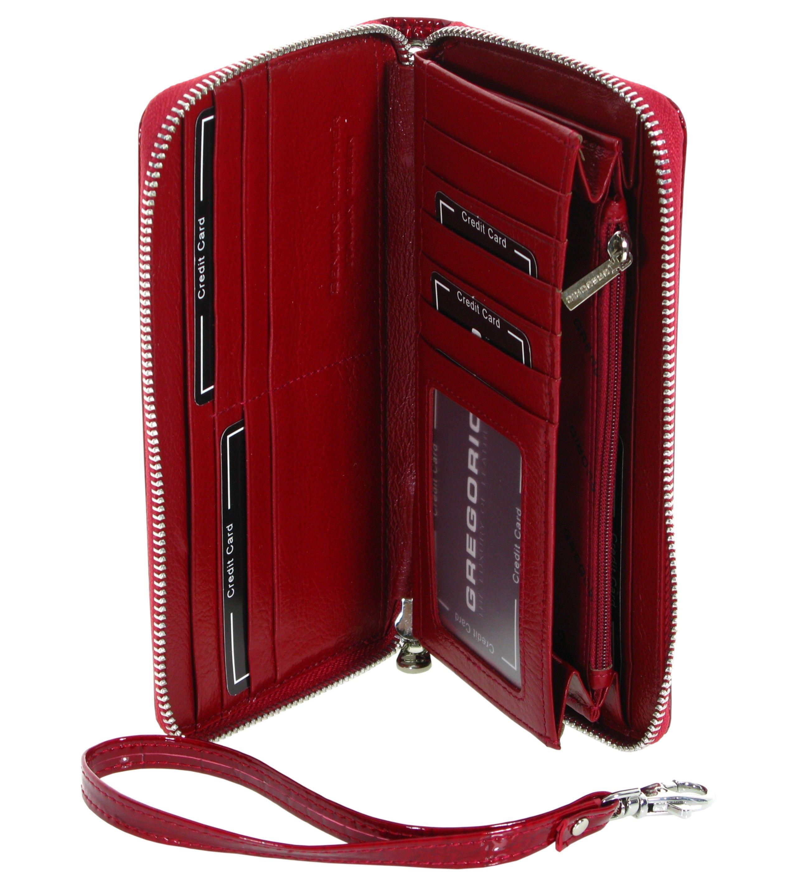 9dd56a3e92349 Skórzany portfel damski GREGORIO BC119 czerwony | Akcesoria skórzane ...