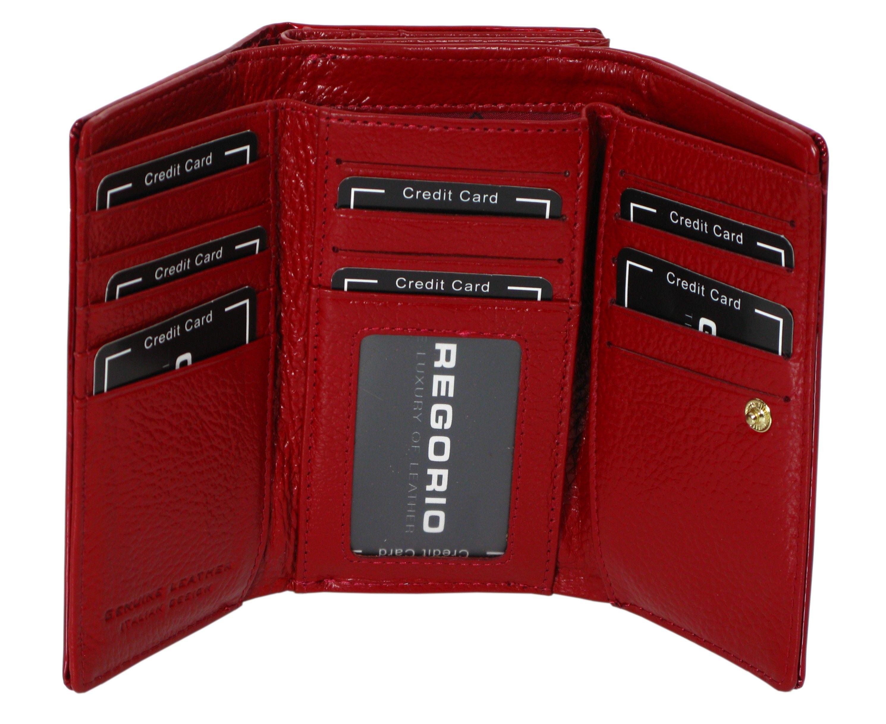 2b2bfe5eb33ee Skórzany portfel damski GREGORIO BT108 czerwony