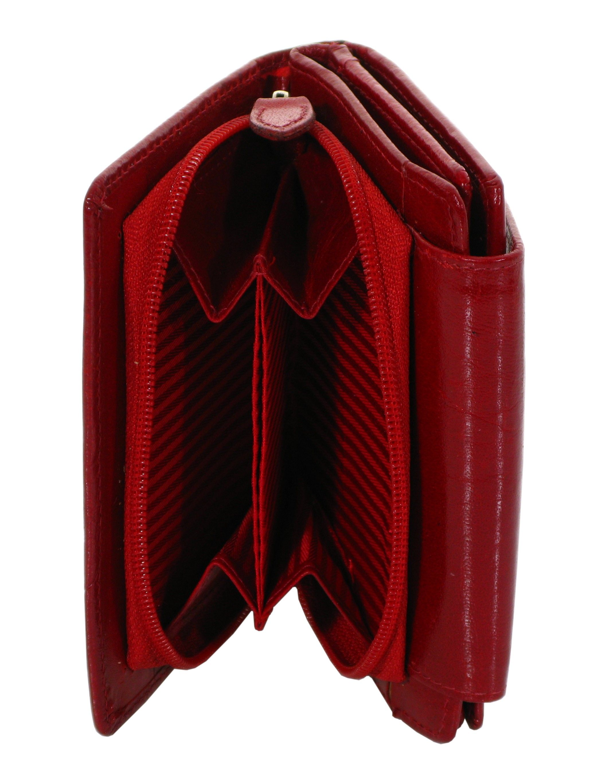 707c6373ba5fa Mały portfel damski ze skóry LORENTI 30-35 czerwony