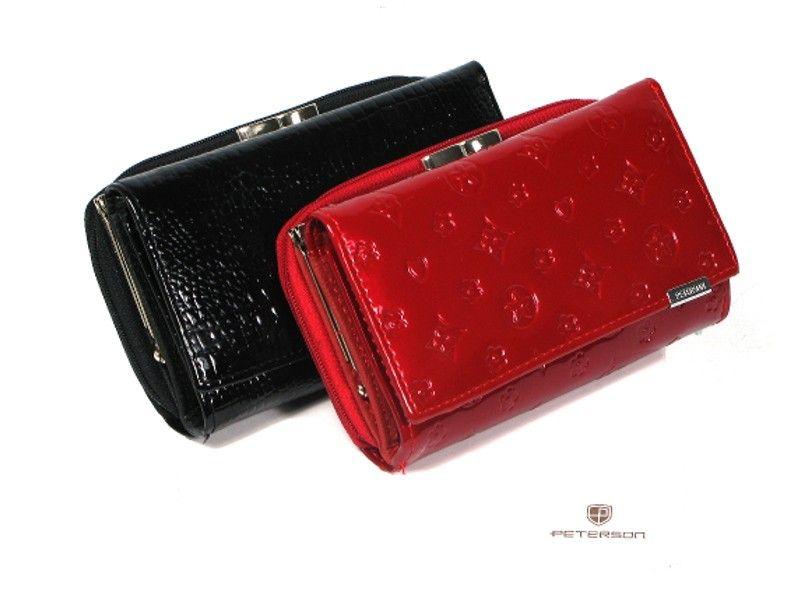 2d68eafcb2a61 portfel damski skórzany allegro czerwony peterson lakierowany ...