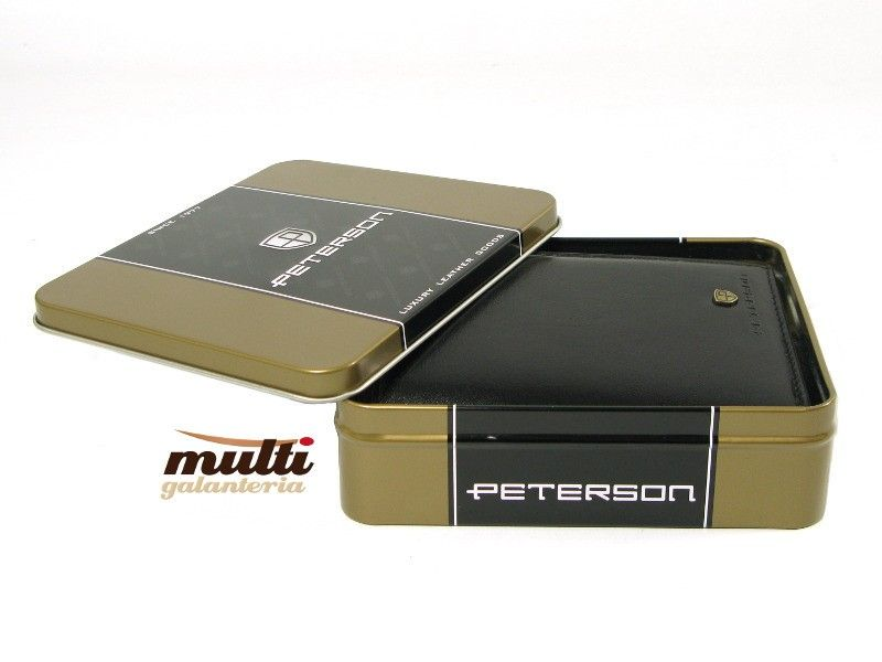 b0f9bf840b905 Portfel męski PETERSON 339-1 SKÓRA Czarny | Akcesoria skórzane ...