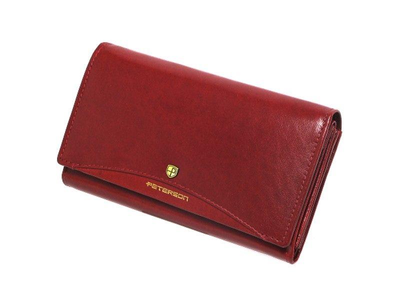 8d0cd91ec001e portfel damski skórzany allegro czerwony peterson klasyczny ...