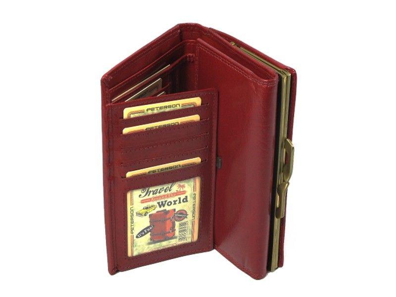 ed967dd696d0c ... portfel damski skórzany allegro czerwony peterson klasyczny ...