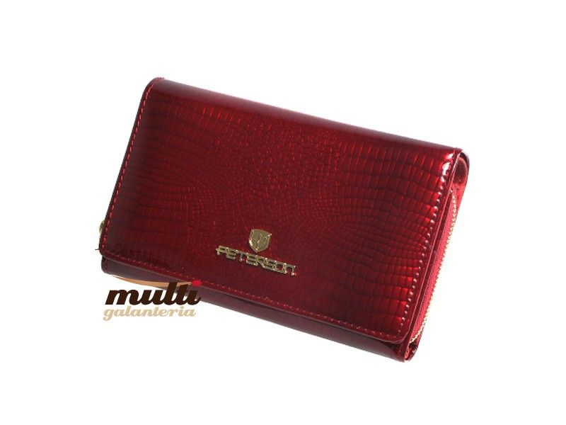 fd25d42462d4a ... portfel damski skórzany allegro czerwony peterson lakierowany ...