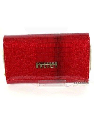 171e22a665ebd Portfel damski PETERSON 601 Czerwony Eleganckie Tłoczenie ...