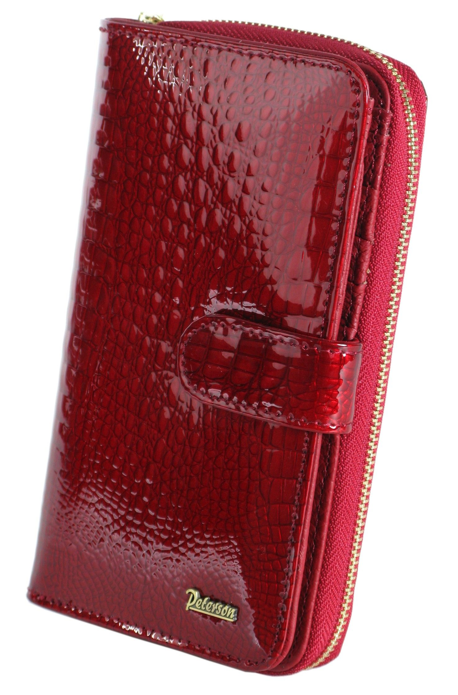 337299c05baa7 Portfel damski PETERSON 603 2 czerwony SKÓRA CROCO | Akcesoria ...