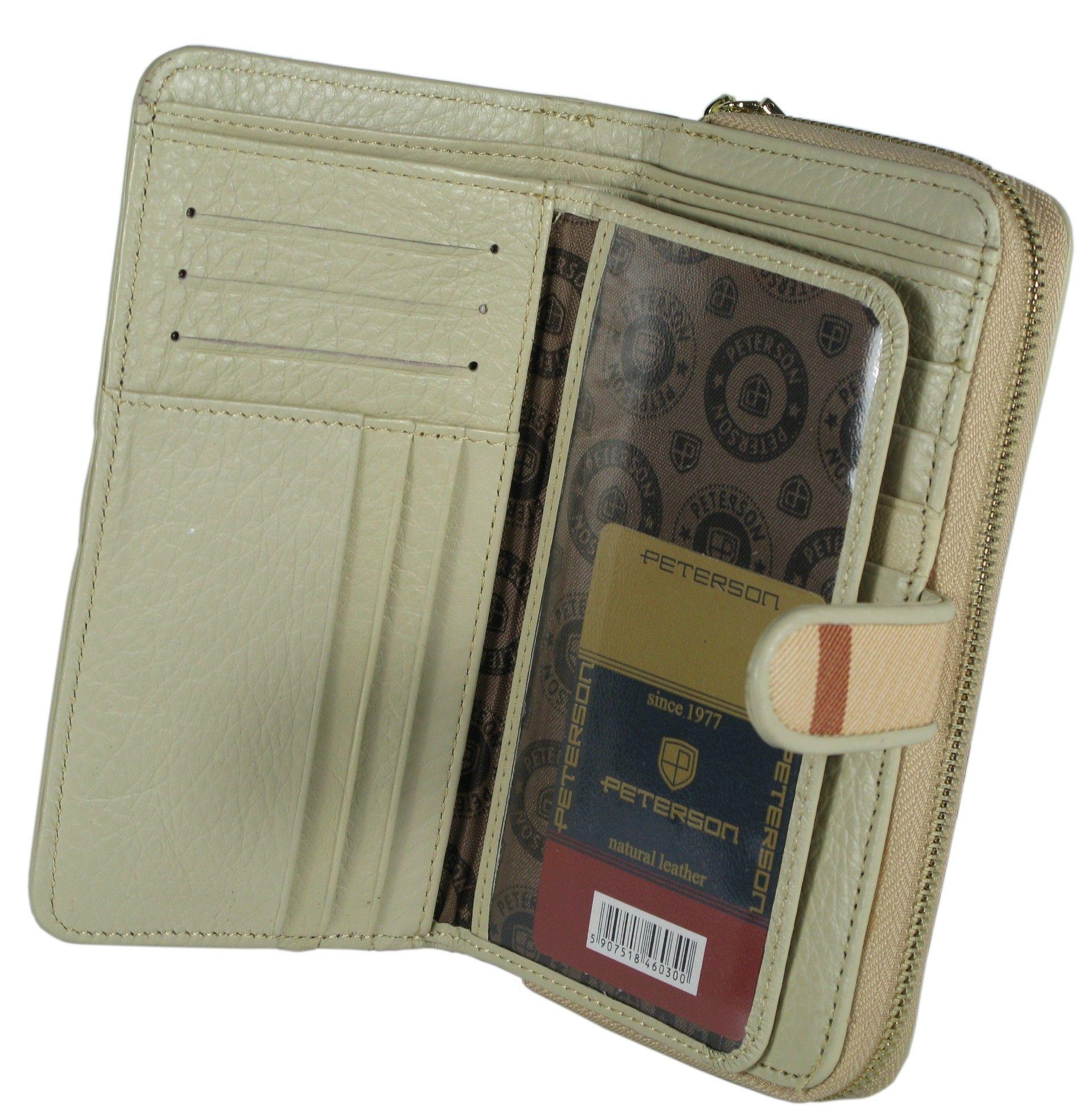 5e2c12607b2cd ... portfel damski skórzany allegro czarny peterson lakierowany ...