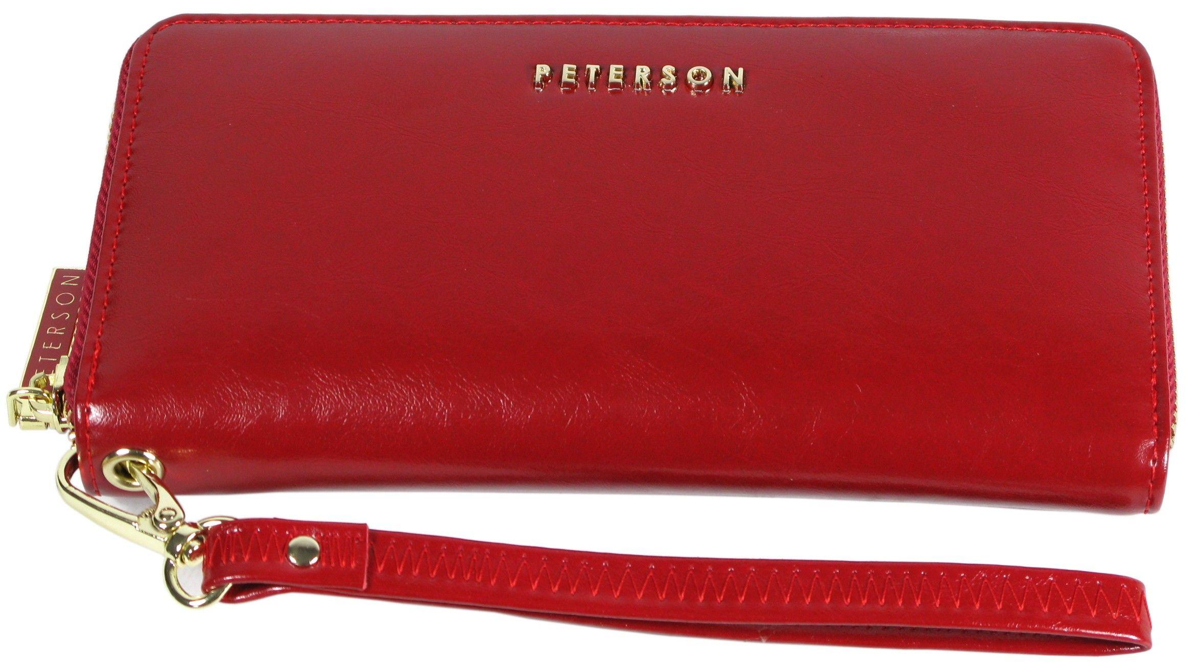 7c7d78ffa453b ... portfel damski skórzany allegro czerwony peterson lakierowany