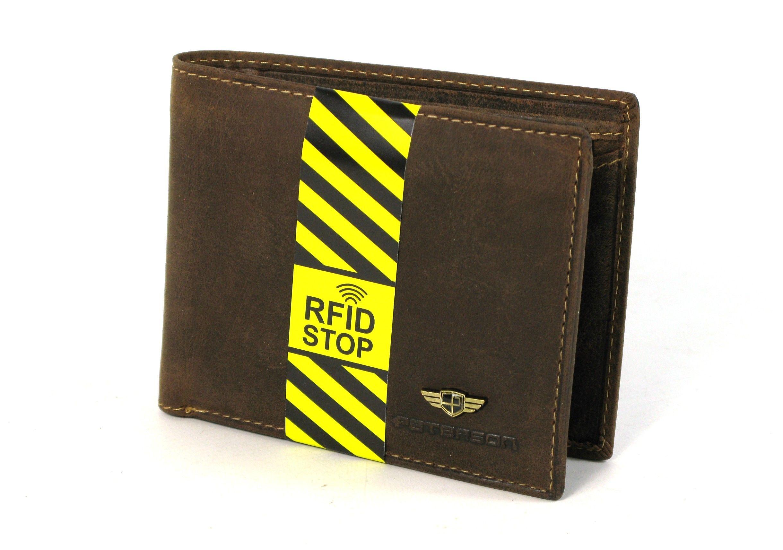 a7f7a2a3d70be Portfel męski PETERSON RW-347-2 RFID SKÓRA brązowy | Akcesoria ...