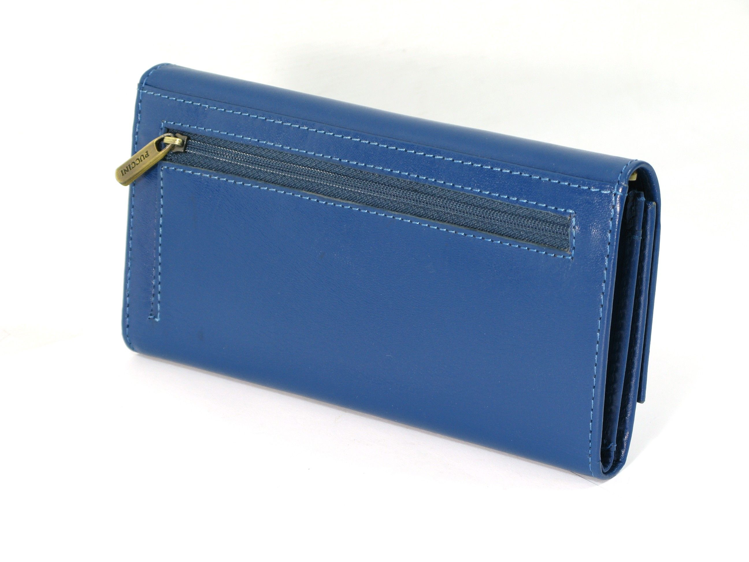 5bb7d36568fe8 DUŻY portfel damski PUCCINI P-1680125 skóra   organizer niebieski