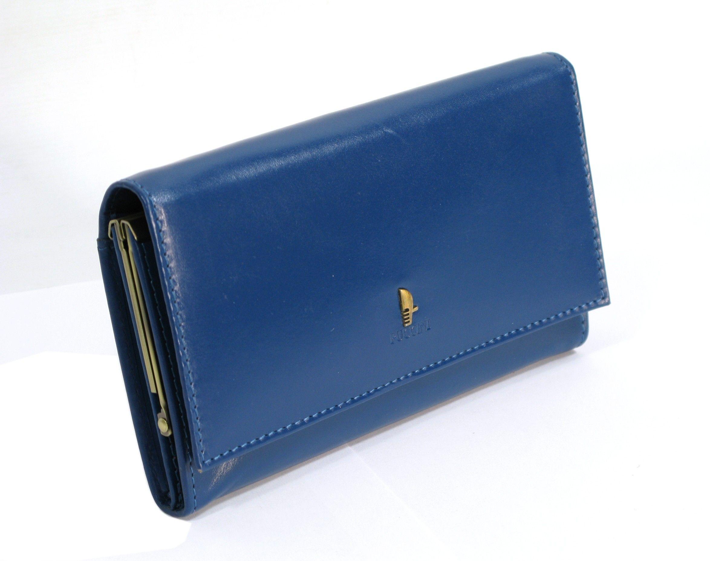 6007777cba1dd Damski portfel skórzany PUCCINI P-1704 w kolorze niebieskim ...