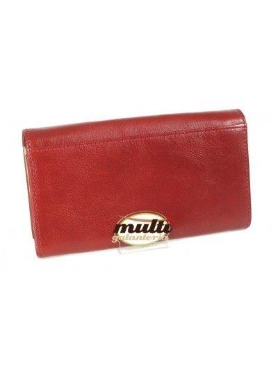 f9d8ed4766ea4 Damski portfel skórzany PUCCINI P-1704 czerwony duży