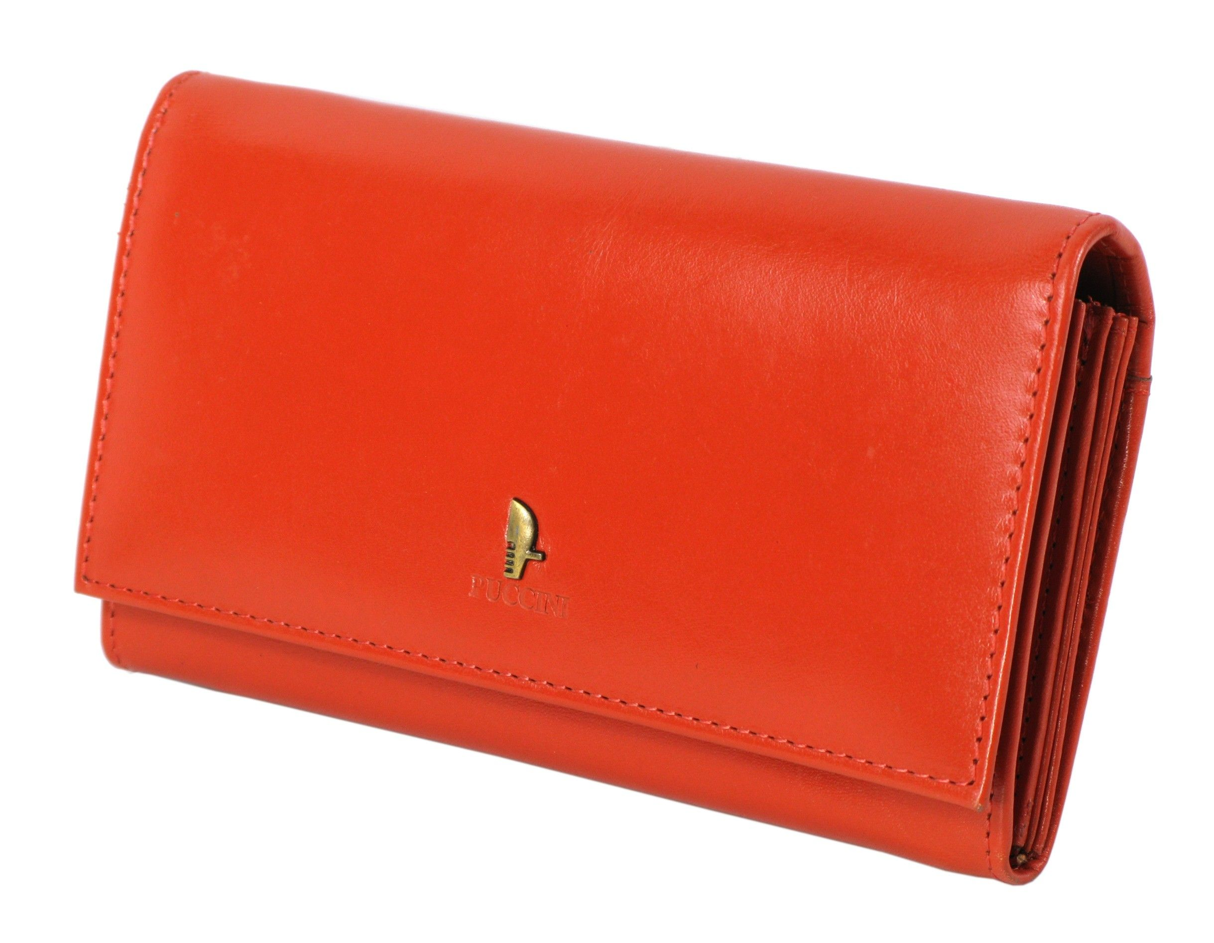 49c6e0e4ccc45 Damski portfel skórzany PUCCINI P-1706 pomarańczowy | Akcesoria ...
