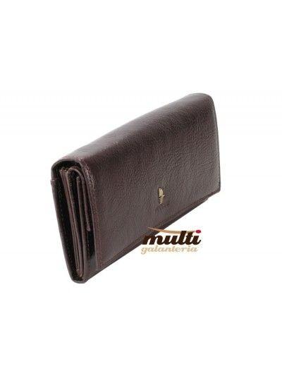 0bbadc953b017 portfel damski skórzany allegro puccini klasyczny masterpiece brązowy ...