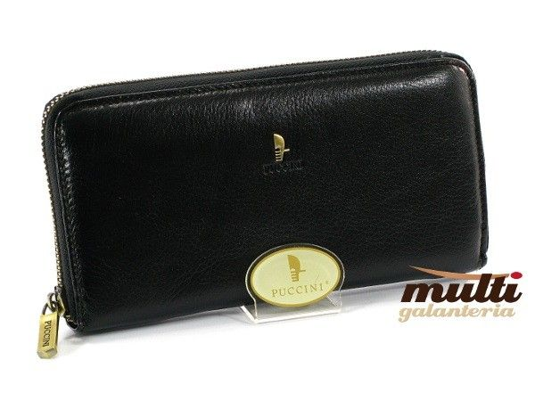 da41c69a9efc5 portfel damski skórzany allegro puccini klasyczny masterpiece czarny  czerwony ...