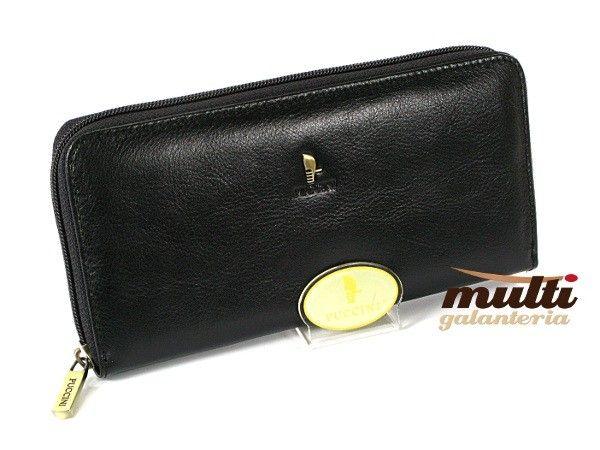 0570e64984b81 portfel damski skórzany allegro puccini klasyczny masterpiece czarny ...