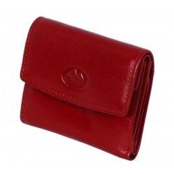 037dc57d37148 Mały portfel skórzany EL FOREST 942 czerwony skóra