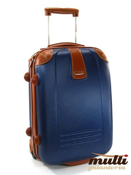 77266af61df19 Mała walizka DIELLE 255 C niebieska   Akcesoria skórzane ...