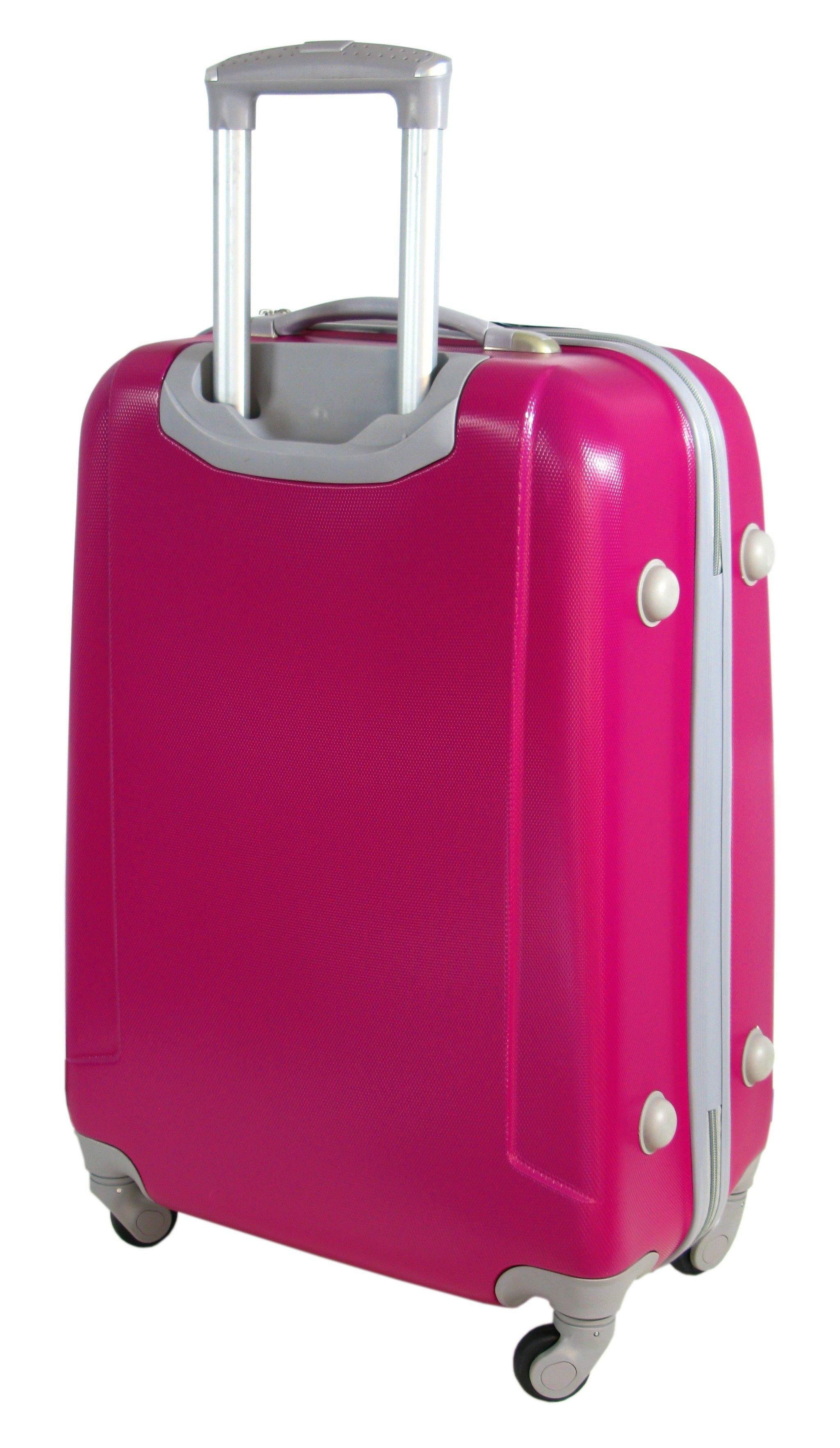 6be3fc8cee783 Mała walizka na kółkach MAXIMUS 222 ABS różowa | Akcesoria skórzane ...