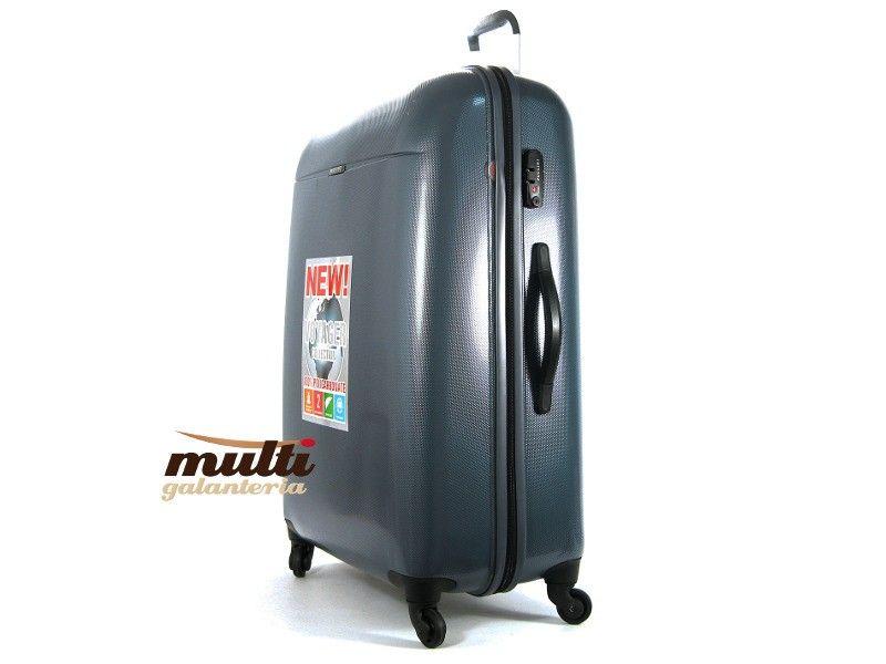 186bfff59c63c Duża walizka PUCCINI twarda PC 005 A 97L szara lub grafitowa ...