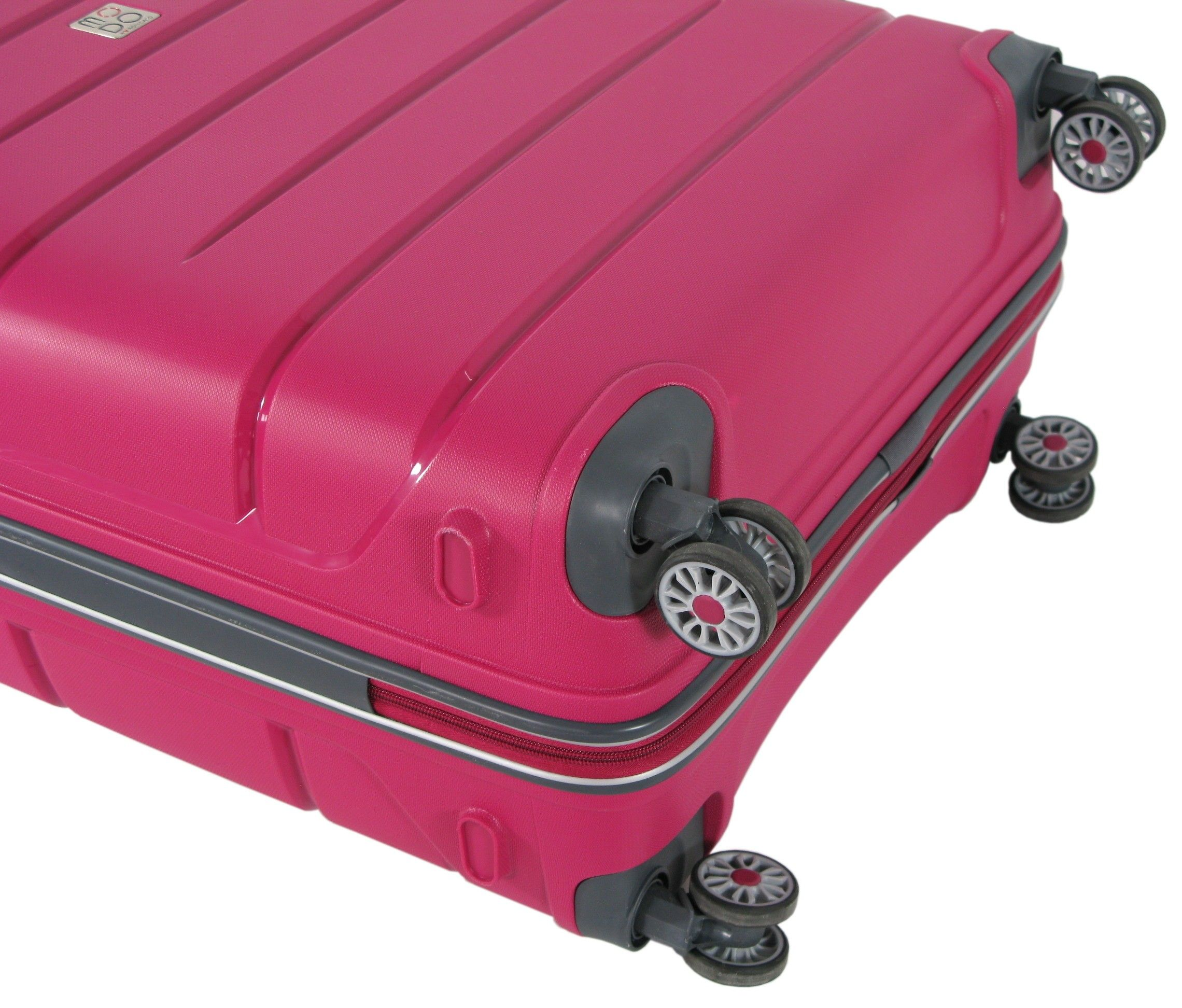 b2dd0f769333 Duża walizka na kółkach RONCATO MODO zamek TSA różowa