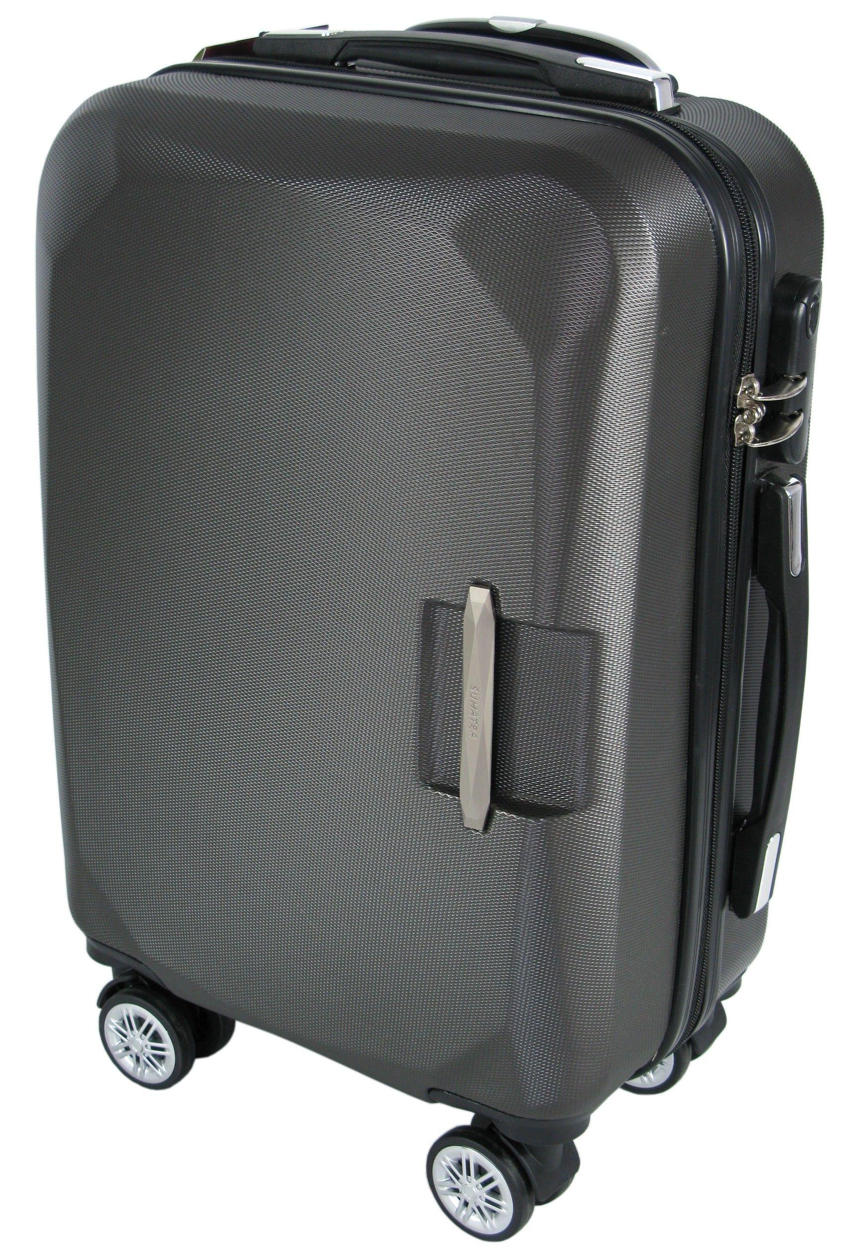 5e234a91034fe Mała walizka na kółkach SUMATRA ABS z zamkiem szyfrowym szara ...