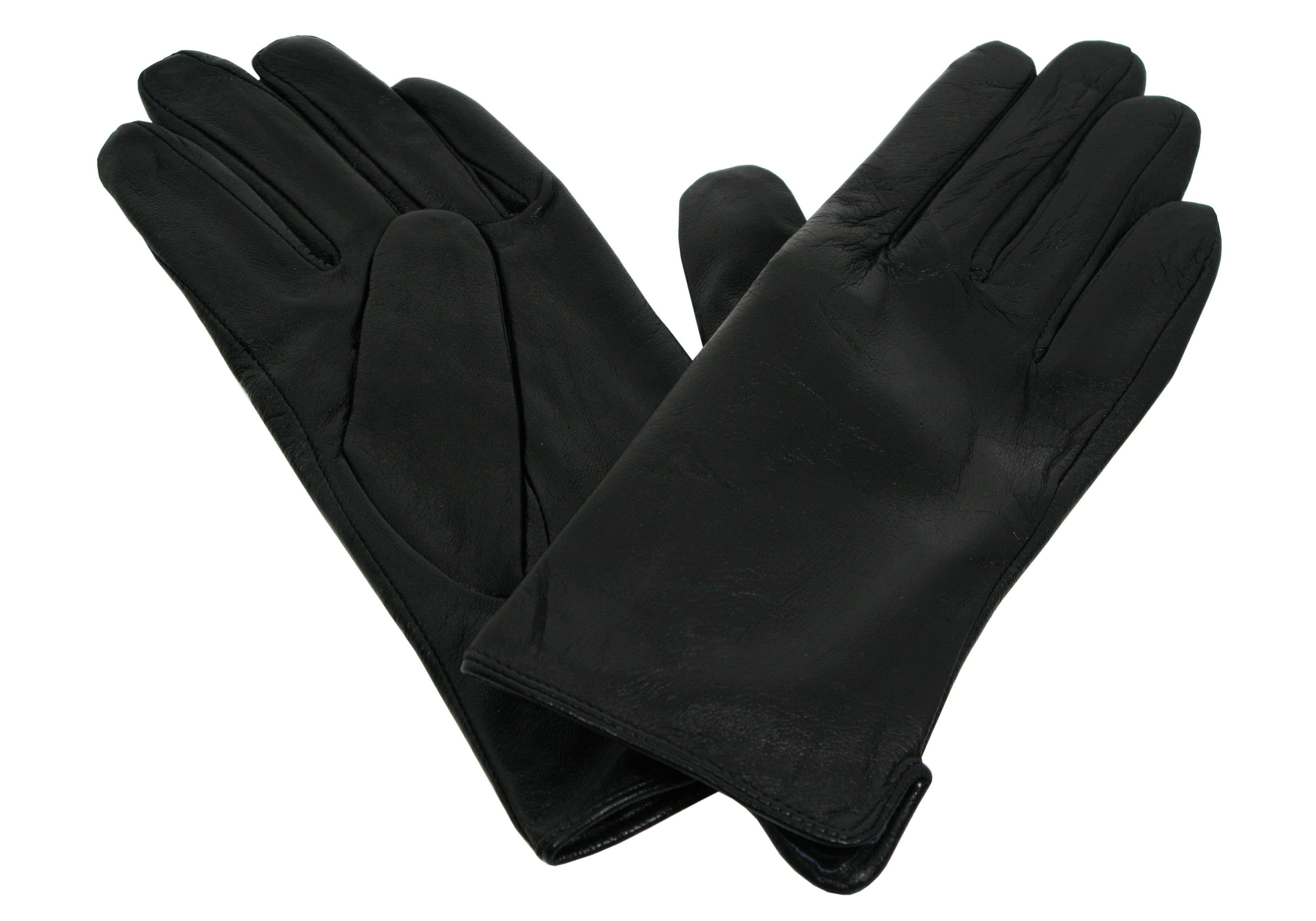 2951c936ac015 Skórzane rękawiczki damkie czarne skóra